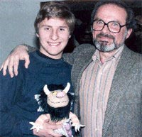 David Saltzman with author-artist Maurice Sendak