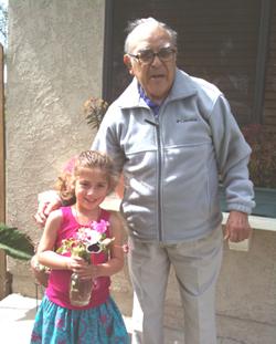 Ruben F. Castaneda with Olivia