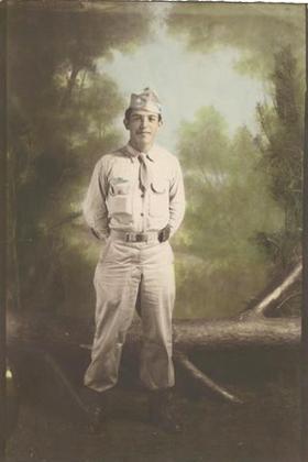 Ruben F. Castaneda military 1944