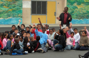93rd Street School Students Cheering for Fellow Students