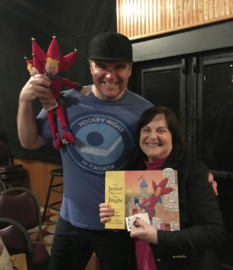 Headliner Ian Bagg with The Jester and Barbara Saltzman