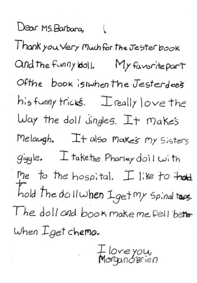Morgans letter 1998