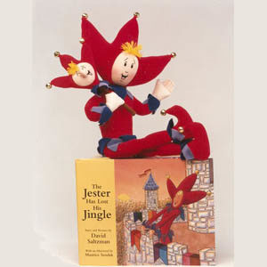 jester book and doll