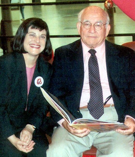 Barbara with Ed Asner